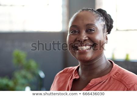 Pessoas reais preto e branco retrato moço olhando câmera Foto stock © silent47
