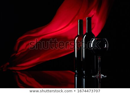 Rouge soie alcool plat Photo stock © M-studio
