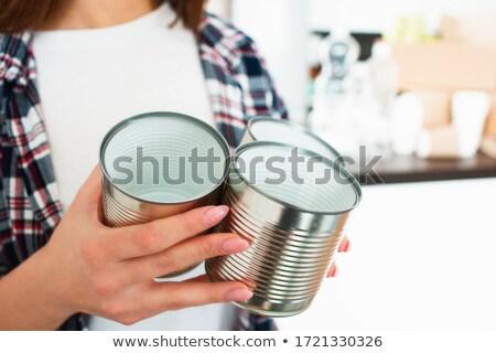 kadın · geri · dönüşüm · cam · şişeler - stok fotoğraf © photography33