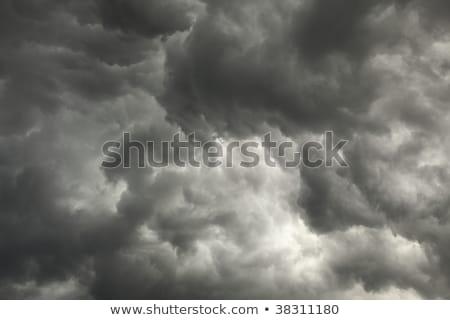 gloomy sky preceding storm with dark clouds stock photo © pzaxe