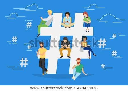 ストックフォト: ソーシャルメディア · ボタン · 販売 · 白 · 手 · インターネット