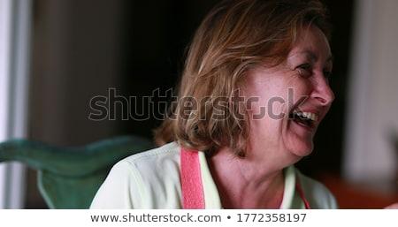 Openhartig portret mooie vrouw onderwijs klasse vrouw Stockfoto © cboswell