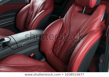Black leather modern luxury car interior. Stock photo © annakazimir