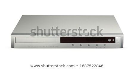black dvd player isolated Stock photo © ozaiachin
