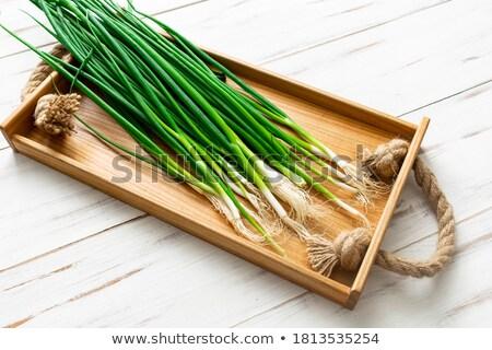 新鮮な · 玉葱 · 2 · セクション · 孤立した · 白 - ストックフォト © stevanovicigor