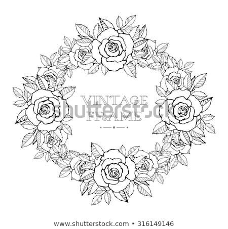 Hagyományos virág embléma terv fa tavasz Stock fotó © creative_stock