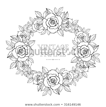 Traditionellen Blume Emblem Design Baum Frühling Stock foto © creative_stock