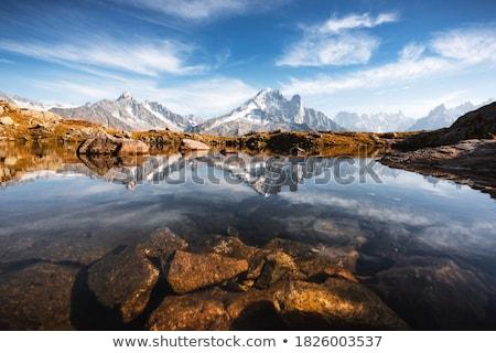 高山 · 湖 · フランス · フランス語 · アルプス山脈 · 塩 - ストックフォト © pkirillov