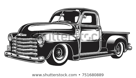 klasszikus · teherautó · izolált · fehér · autó · utazás - stock fotó © hauvi