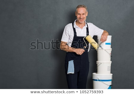 Painter satisfied with roller Stock photo © photography33