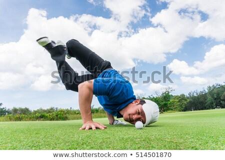 Vicces golfozó vektor rajz különböző sport Stock fotó © pcanzo