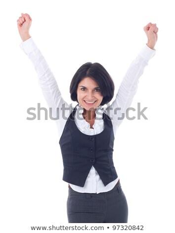 танцы · счастливым · деловой · женщины · радостный - Сток-фото © feedough