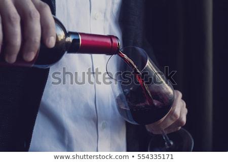 Man drinking wine alone Stock photo © photography33