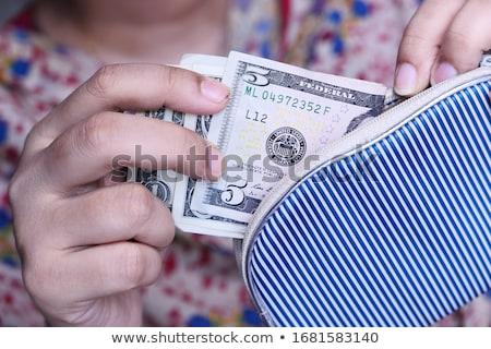 kéz · elvesz · pénz · fából · készült · üzlet · fém - stock fotó © shutswis