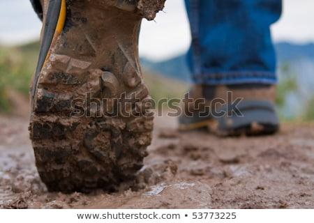 Bottom of hiking shoes  Stock photo © cozyta