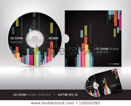 abstract digital cd cover background Stock photo © pathakdesigner
