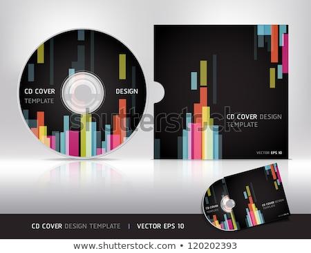 Abstrato digital cd cobrir escritório projeto Foto stock © pathakdesigner