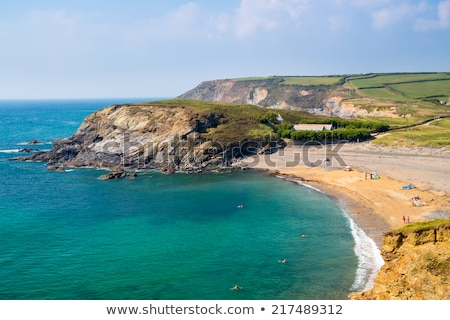 Cornish Coastline at Gunwalloe Church Cove Stock photo © mosnell