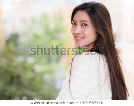 ázsiai hölgy portré női néz komoly Stock fotó © KMWPhotography