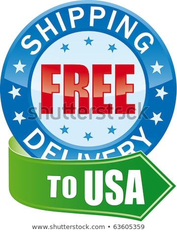 Free Shipping In Red Star Banner Stok fotoğraf © ALMAGAMI