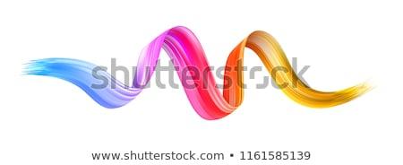 Arte escove arco-íris pintar redemoinho pincel Foto stock © Lightsource