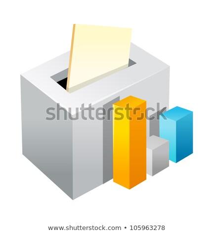 Vote box and bar graph Stock photo © zzve