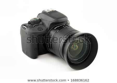 Dslr kamera fehér izolált stúdiófelvétel test Stock fotó © deyangeorgiev