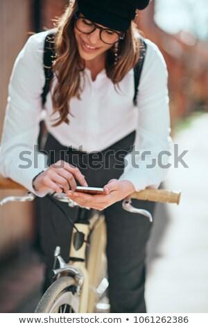 fiets · grijs · auto · auto - stockfoto © zzve