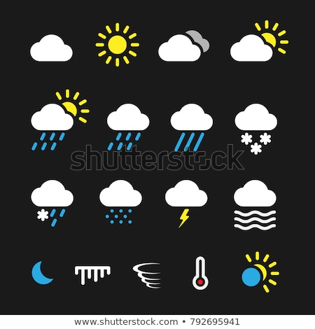 Tiempo icono clipart ilustración caliente termómetro Foto stock © Krisdog