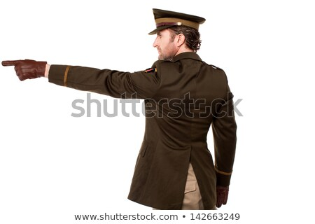 Сток-фото: военных · персонал · указывая · далеко · молодые · американский