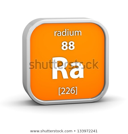 Symbol for the chemical element radium Stock photo © Zerbor