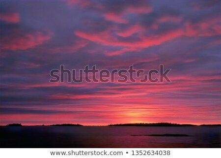 Göl akşam karanlığı batı Michigan ontario Kanada Stok fotoğraf © cmeder