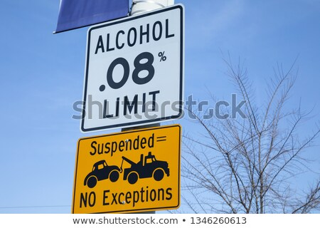 Sign legal limit 0.8 and alcoholism Stock photo © Ustofre9