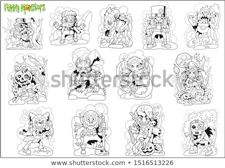 funny cartoon monster Stock photo © kariiika