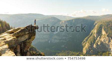 Yosemite half koepel Californië hemel boom Stockfoto © lunamarina
