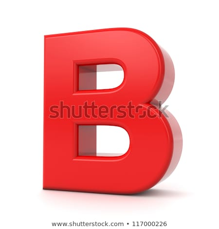 Red 3D Letter B. Stock photo © tashatuvango