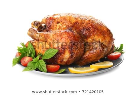 Pieczony kurczak odizolowany tle mięsa biały BBQ Zdjęcia stock © M-studio