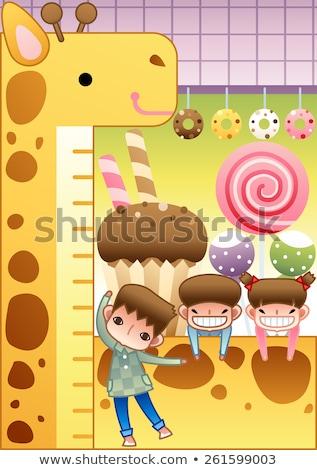 Little girl enjoying ice cream with crispy cream stick Stock photo © Escander81
