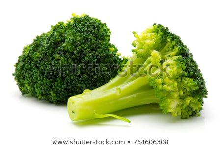 Knapperig gekookt broccoli houten plaat geïsoleerd Stockfoto © zhekos