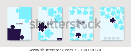 Bright technology puzzle vector background Stock photo © saicle