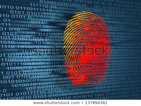 identity theft on dark digital background stock photo © tashatuvango