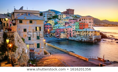釣り · 村 · センター · イタリア · カラフル · 住宅 - ストックフォト © faabi