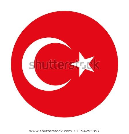 Turquia bandeira ícone isolado branco projeto Foto stock © zeffss