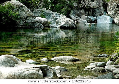 Stream & rocks at Bavella Stock photo © Joningall