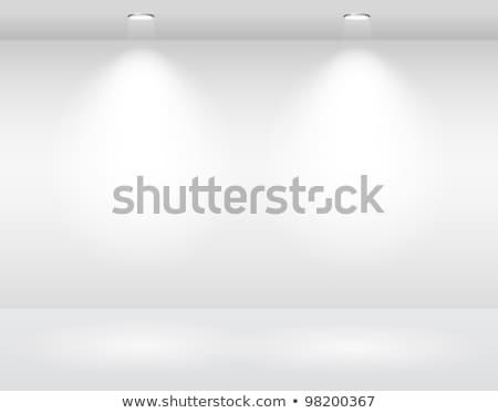 Foto d'archivio: Bianco · muro · spot · luce · muro · di · mattoni