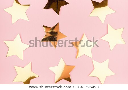 Background with golden stars Stock photo © shawlinmohd