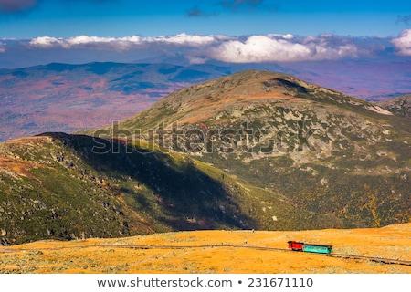 smal · stoomlocomotief · bergen · berg - stockfoto © hofmeester