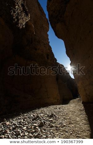 峡谷 · 砂の · 砂漠 · 雲 · 太陽 · 日没 - ストックフォト © imagex