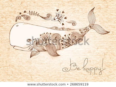 Smiling sperm whale Stock photo © anbuch