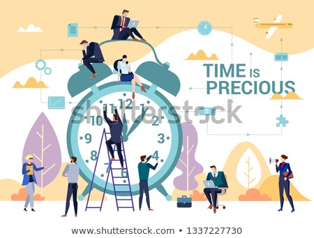 People Management Concept. Vintage design. Stock photo © tashatuvango